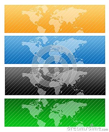 Travel Web header / world map