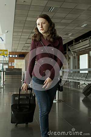 Travel woman in airport