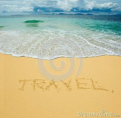Travel written in a sand