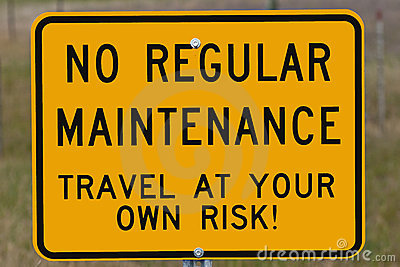 Travel at Your Own Risk Sign