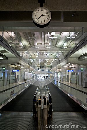 Travelator in airport