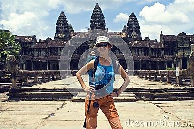 Traveler at Angkor Wat