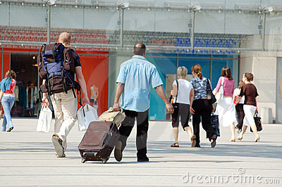 Travelers and shoppers