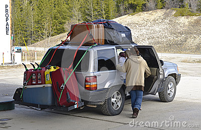 Traveling Editorial Stock Image
