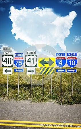 Traveling America s roads.