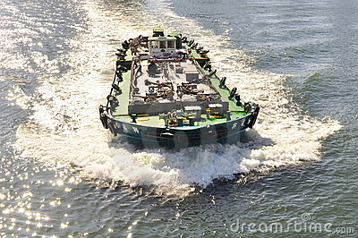 A traveling boat at Sumida River of Tokyo Editorial Photo
