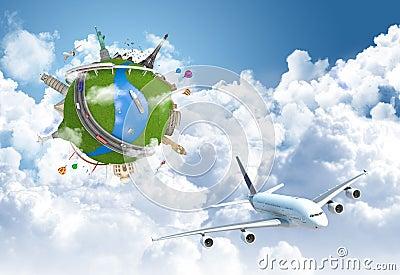 Traveling the world dream globe