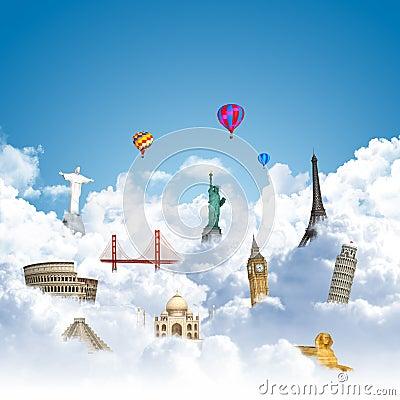 Traveling the world dream landmark