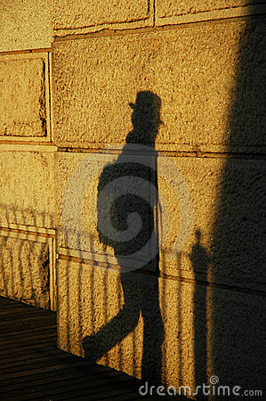 Free Traveller S Shadow Royalty Free Stock Photo - 2105525