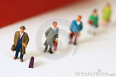 Travellers in queue