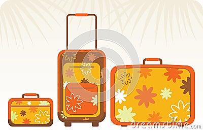 Travelling bags - orange