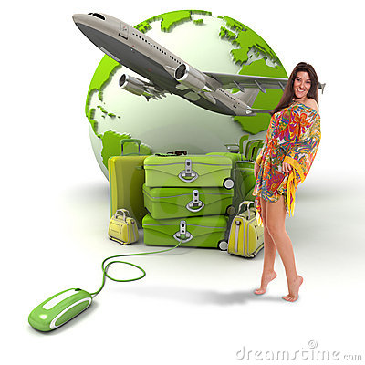 Free Travelling Girl Stock Image - 20306581