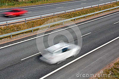 Travelling in High speed on the Motorway