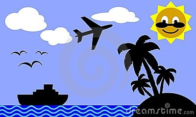 Travelling to tropical island