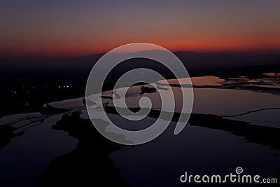Travertine terraces in Pamukkale