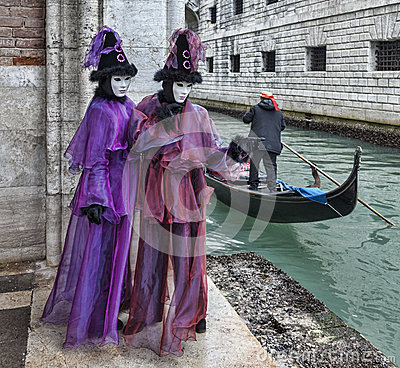 Travestimento veneziana Immagine Editoriale