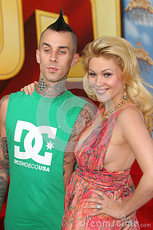 Travis Barker,Shanna Moakler Editorial Stock Image