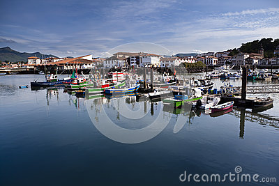 Trawlers in Saint Jean de Luz, France