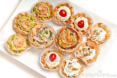 Tray Of Canapes Stock Photo - Image: 14016820
