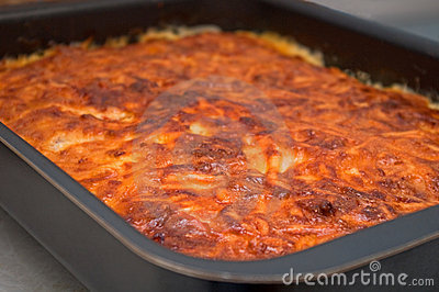 A tray of cooked shepherds pie