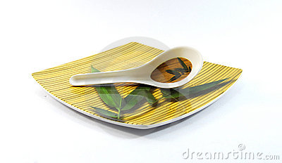 Tray and Spoon
