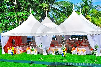 Trädgårds- deltagarebröllop