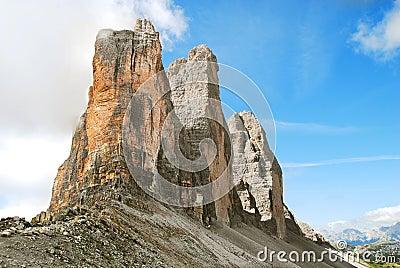 Tre Cime di Lavaredo - landmark of Dolomites
