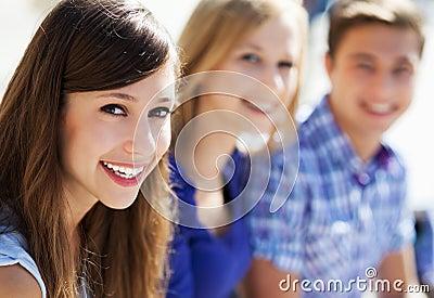 Tre giovani amici
