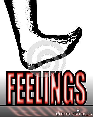 Treading on feelings
