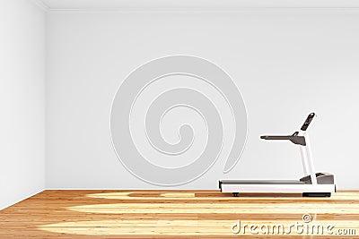 Treadmill i tomt rum