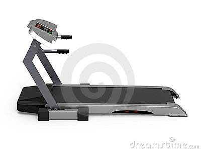 Treadmill isolated on white background, fitness