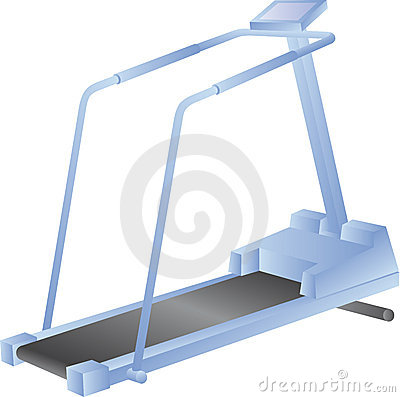 Treadmill isolated on white - vector