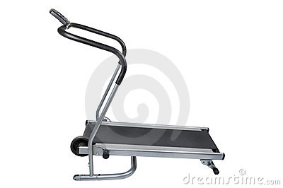 Treadmill on white