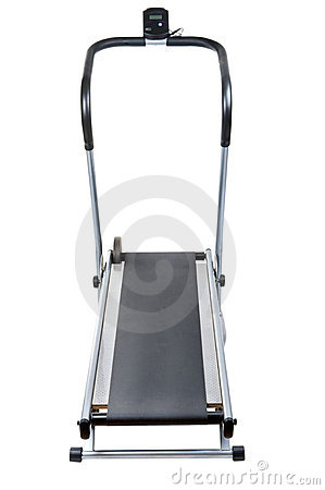Treadmill on white background