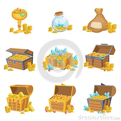 Free Treasure And Riches Set Of Graphic Design Elements Royalty Free Stock Images - 78987559