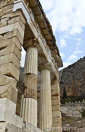 Treasure of the Athenians at Delphi oracle