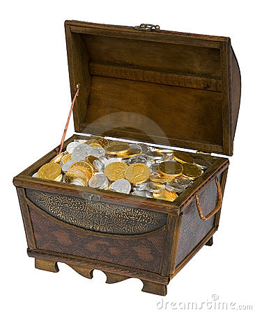 Treasure Chest Of Chocolate Coins