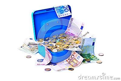 Treasure chest full of money.