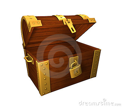 Treasure Chest Gold unlocked and open