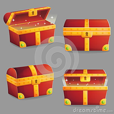Free Treasure Chest In Different Positions Royalty Free Stock Photography - 76511147