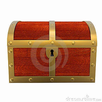 Free Treasure Chest Isolated Stock Photography - 7599262