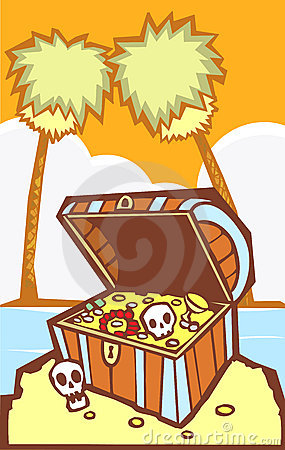 Treasure Chest with Palm trees