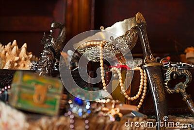 Treasure chests. Shallow DOF