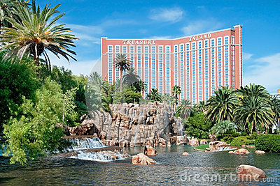 Treasure Island Casino Hotel Resort on the Las Vegas Strip in Ne Editorial Stock Image