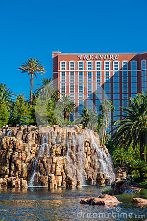 Treasure Island hotel and casino Editorial Photography