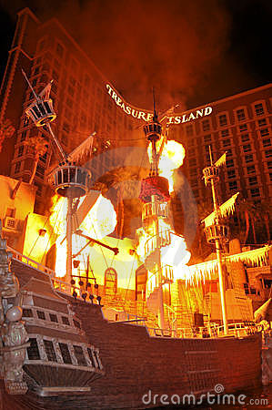 Treasure Island Hotel las Vegas Editorial Photography