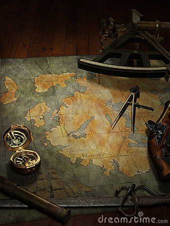 Free Treasure Map Royalty Free Stock Images - 1265709