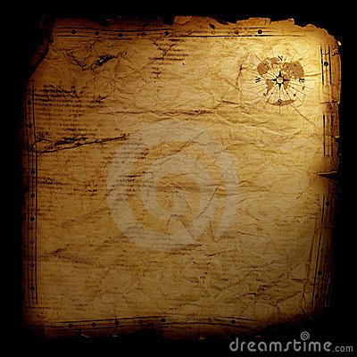 Treasure map - on black