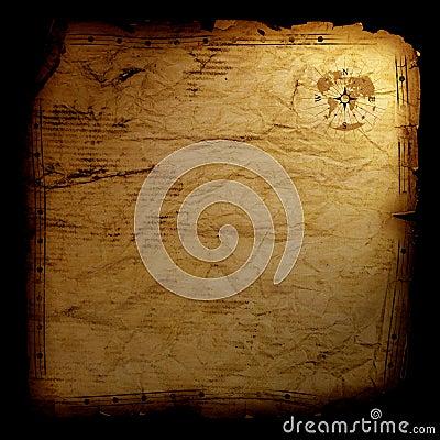 Treasure map - on black
