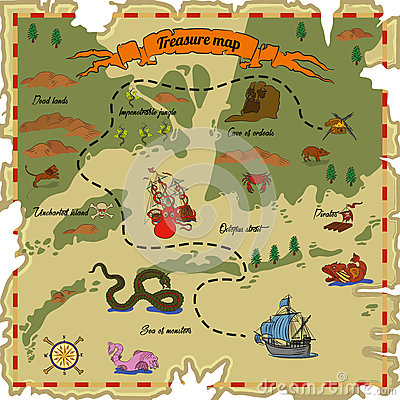 Treasure map Vector Illustration